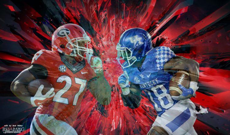 Georgia's Nick Chub (27) vs Kentucky's Stanley Boom Williams (18) 2016 edit by Bob Miller