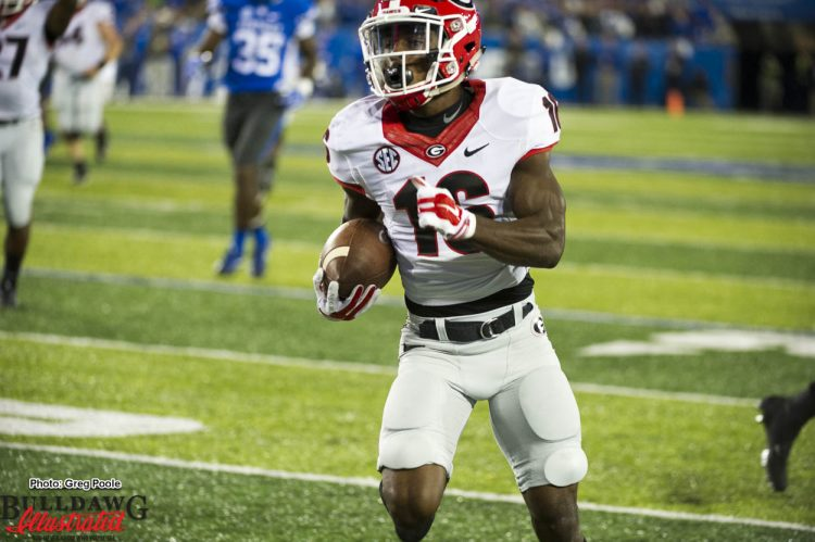 Isaiah McKenzie on his way to the pay dirt in the endzone