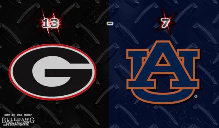 Georgia 13 - Auburn 7  edit by Bob Miller