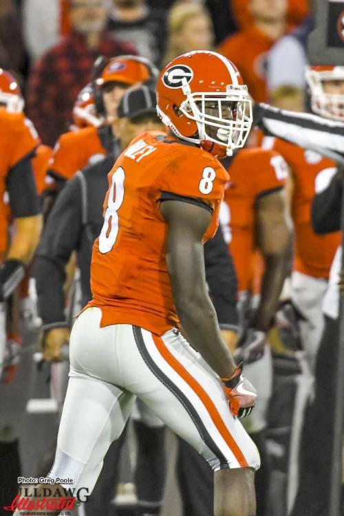 Wide receiver Riley Ridley - Georgia vs Auburn 12-Nov-2016