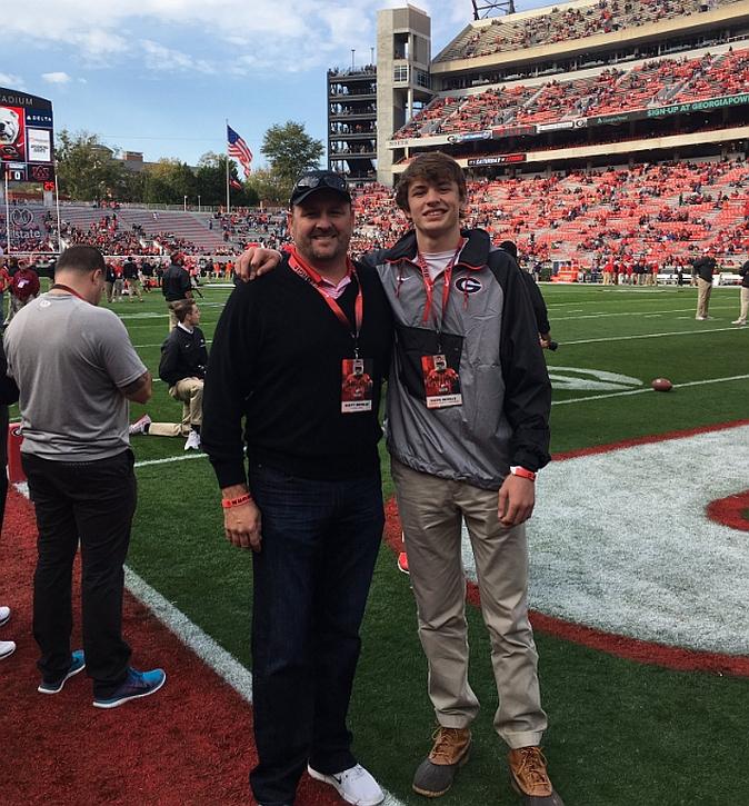 Scott Beville (left) and Davis Beville (right) - (Photo - Davis Beville - Twitter)