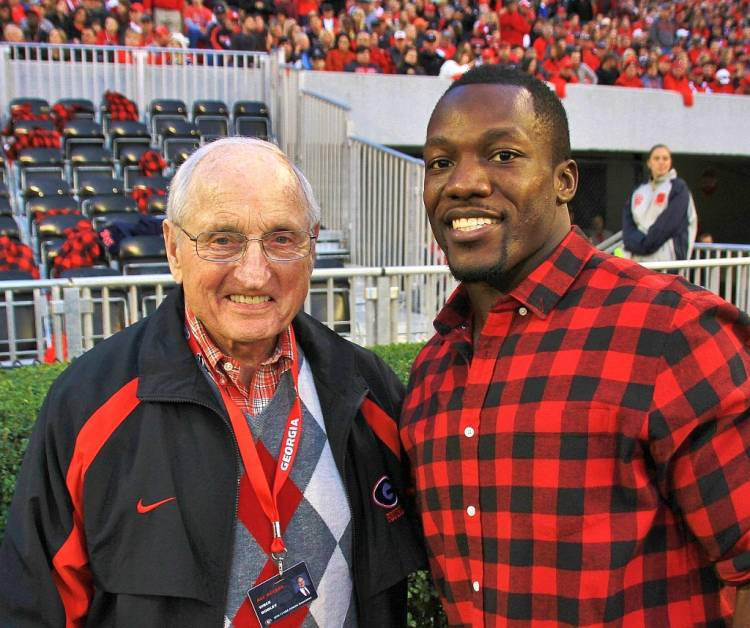 Vince Dooley and Rennie Curran (Photo by Rob Saye)