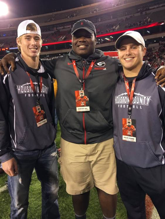 Tyler Fromm (left), Deontrey Hill, Dylan Fromm (right) (photo from Dylan Fromm - Twitter)