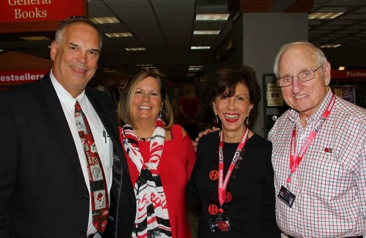 Scott & Marianne Woerner with Barbara & Vince Dooley