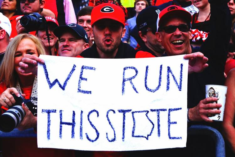 'We Run This State'  (Photo: Greg Poole/Bulldawg Illustrated)