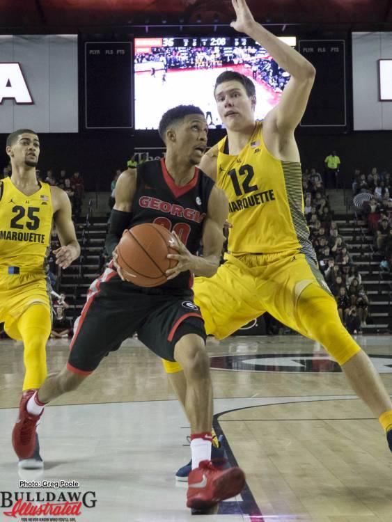 J.J. Frazier drives the basket