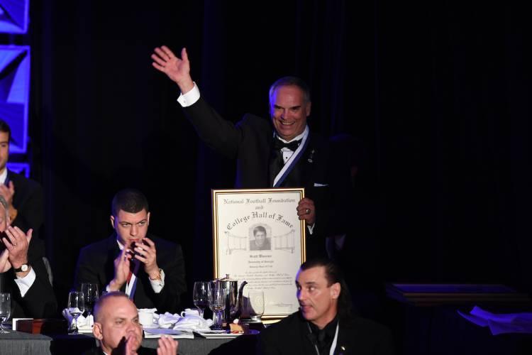 Scott Woerner at Hall of Fame induction ceremony December 6, 2016