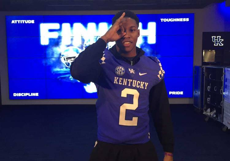 Lonnie Johnson Jr. on visit to the University of Kentucky (photo from Lonnie Johnson Jr. / Twitter