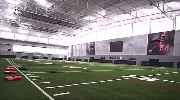 The University of Georgia's new Indoor Athletic Facility (screen capture of video)