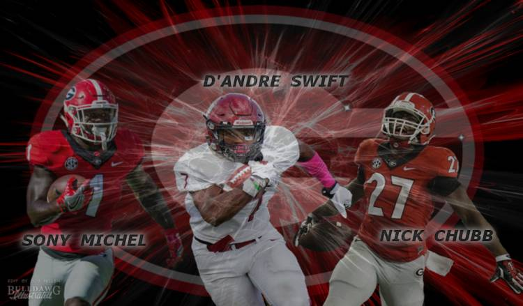 Sony Michel, D'Andre Swift, Nick Chubb edit by Bob Miller