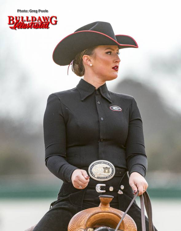 Georgia equestrian team rider and horse