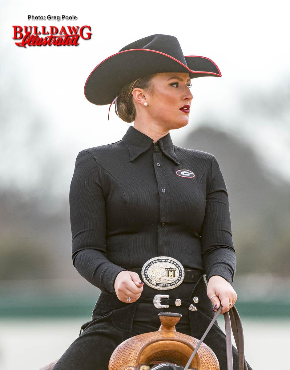Georgia equestrian team rider and horse