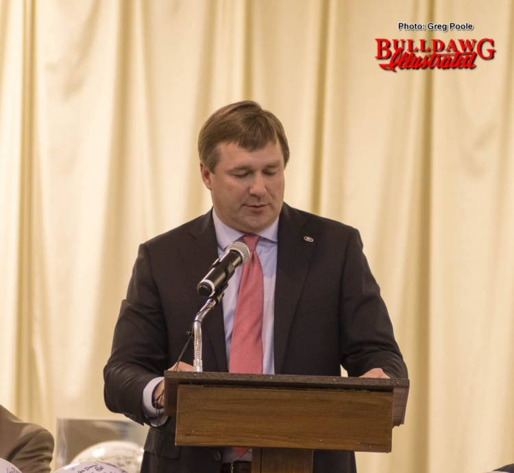 Kirby Smart speaking to the Macon Touchdown Club February 13, 2017