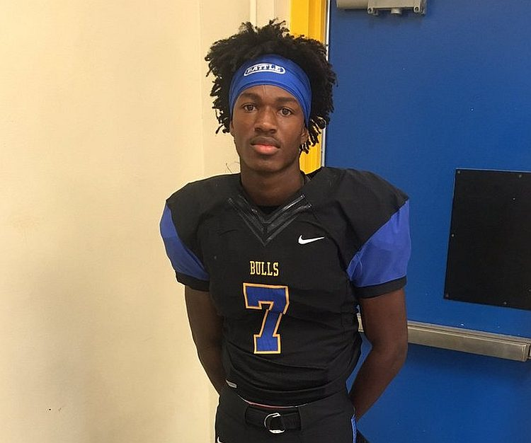 Nigel Bethel Jr. - Class of 2018 WR (photo from Nigel Bethel Jr. - Twitter)