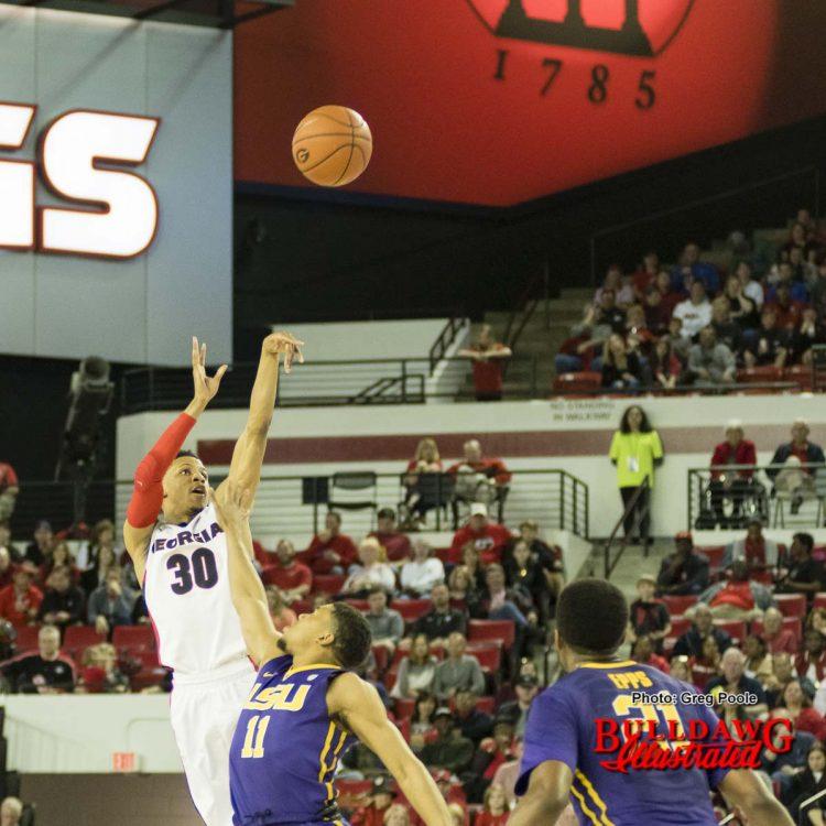 J.J. Frazier releases his shot