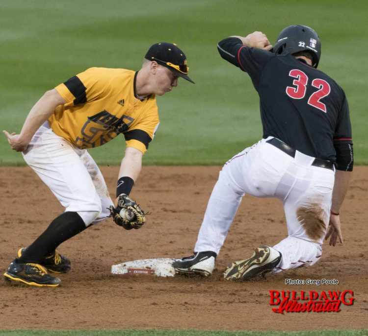 Keegan McGovern is safe at 2nd