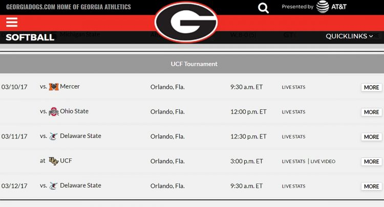 UCF Wilson/DeMarini Softball Tournament schedule