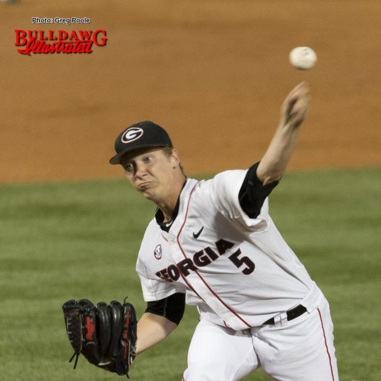 Andrew Gist, senior pitcher, UGA baseball team