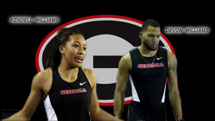 Devon Williams and Kendell Williams, Georgia Track and Field edit by Bob Miller 03-11-2017