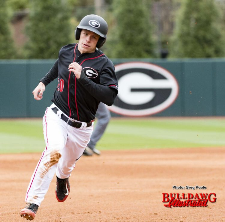 Right fielder Will Campbell rounds the bases