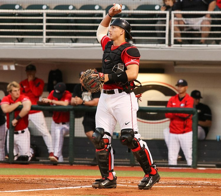 Photo of Georgia catcher Michael Curry (13) by Cory A. Cole / Georgia Sports Communications