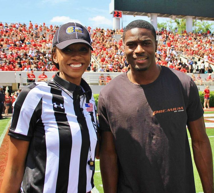 Maria Taylor and A.J. Green (Photo by Rob Saye)