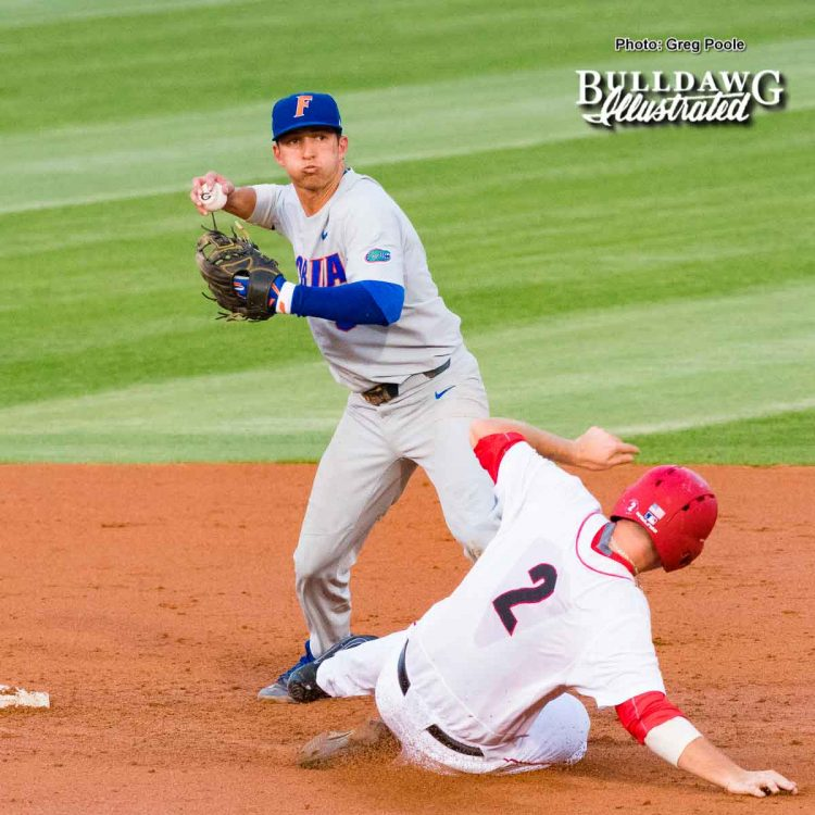 LJ Talley tries to break up a double play