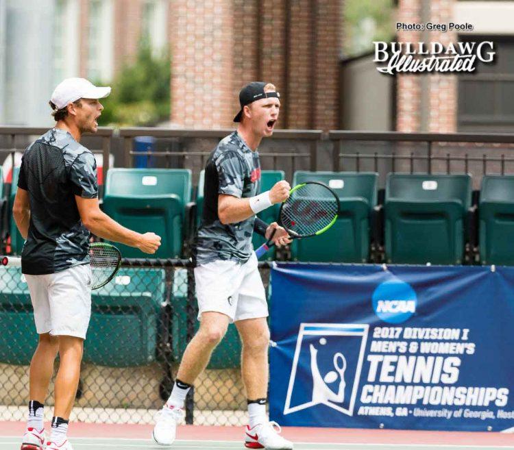 Wayne Montgomery (L) and Walker Duncan – NCAA regional (doubles) – May 13, 2017
