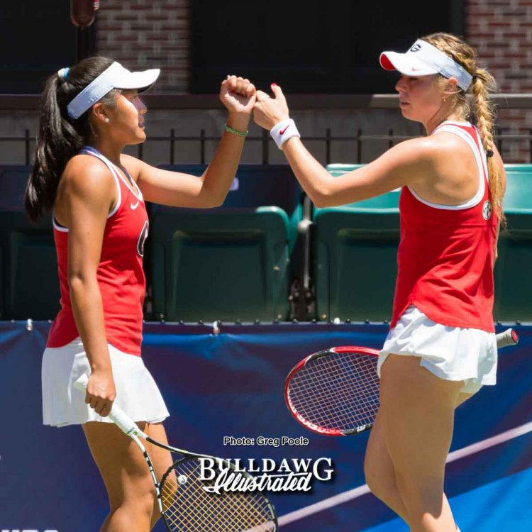 Marta Gonzalez (L) and Marianna Gould – Georgia vs. North Carolina State - May 14, 2017