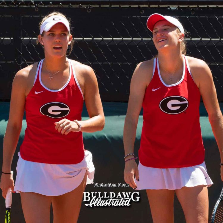 Caroline Brinson (L) and Ellen Perez – Georgia vs. North Carolina State - May 14, 2017