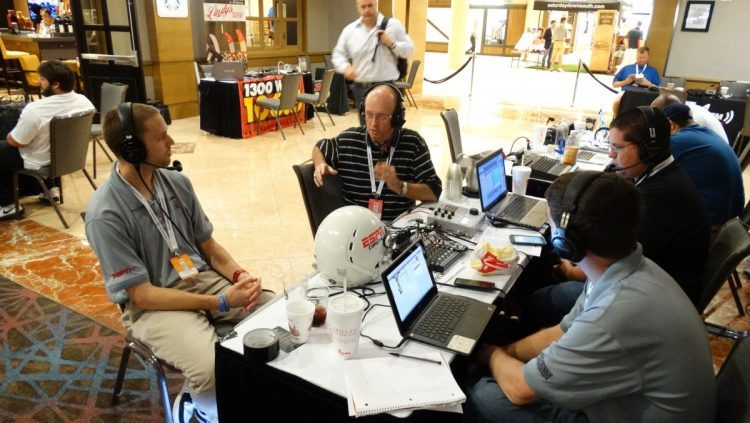 Bulldawg Illustrated's Murray Poole being interviewed on Radio Row at SEC Media Days