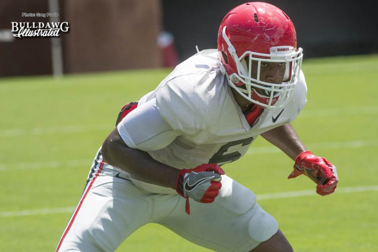Natrez Patrick - Georgia's 1st scrimmage of Fall Camp - Saturday, August 12, 2017