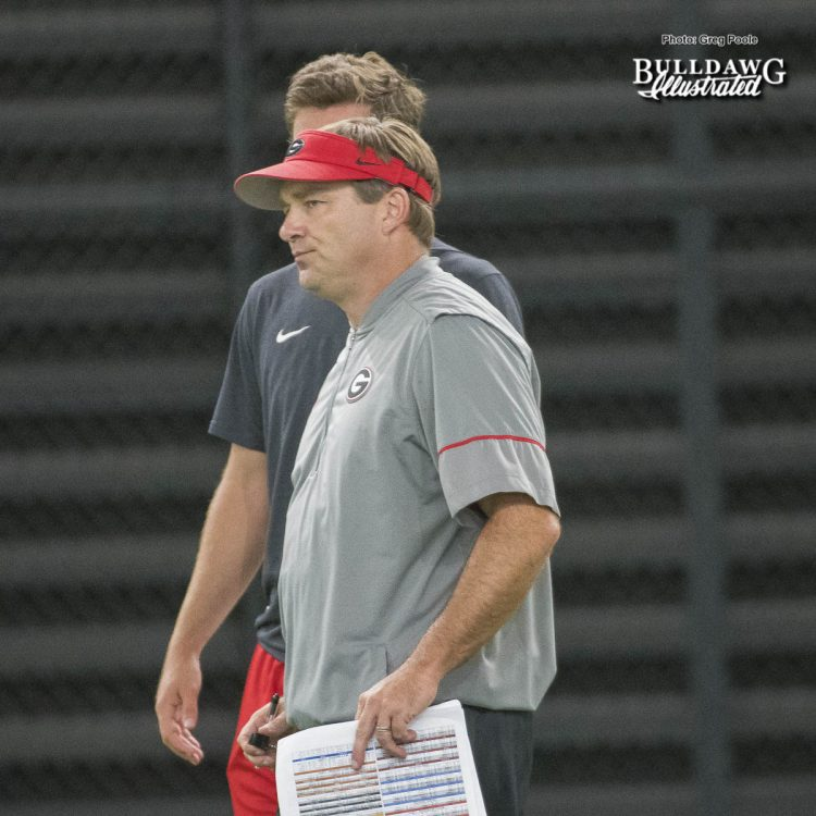 Kirby Smart - UGA Fall Camp - Practice No. 15 - Wednesday, August 16, 2017