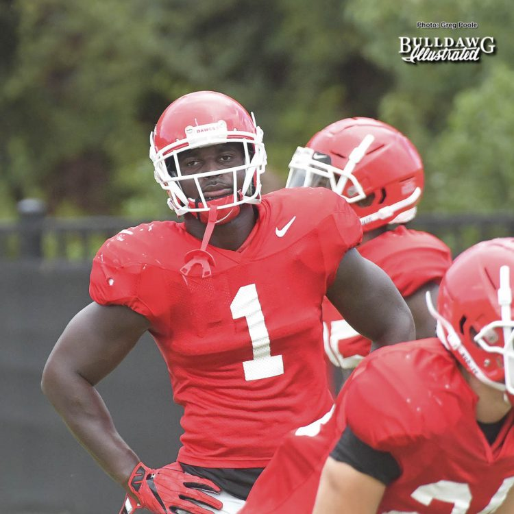 Sony Michel (1) - UGA Fall Camp - Practice No. 16 - Thursday, August 17, 2017
