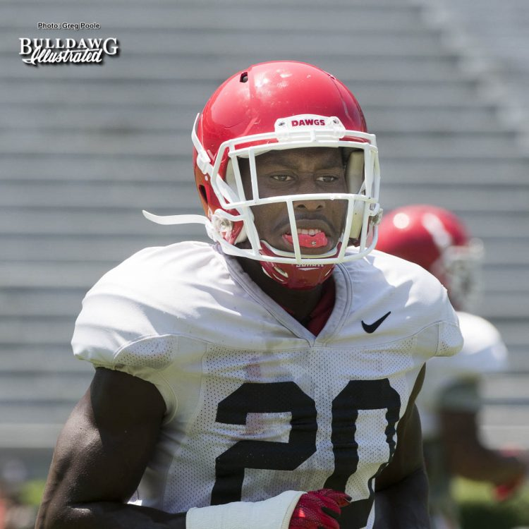 Defensive back J.R. Reed (20) - Practice No. 19, Scrimamge No. 2 - UGA Fall Camp - Saturday, August 19, 2017
