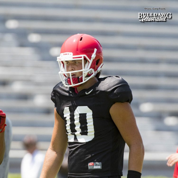 Jacob Eason (10) - Practice No. 19, Scrimamge No. 2 - UGA Fall Camp - Saturday, August 19, 2017