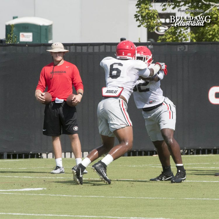 Natrez Patrick (6) - UGA Fall Camp - Practice No. 20 - Tuesday, August 22, 2017