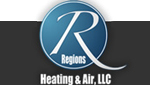 Website for Regions Heating & Air, LLC