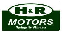 Website for H & R Motors, Inc.
