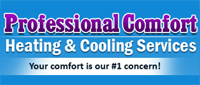Website for Professional Comfort Heating & Cooling Services
