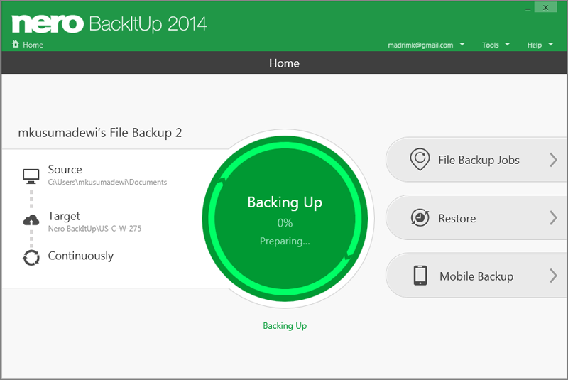 Click to view Nero BackItUp 2014 screenshots