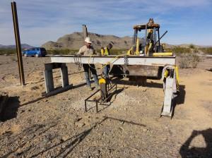 Vertical pile load testing