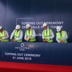 One Galle Face Development celebrates completion of One Galle Face Tower structure