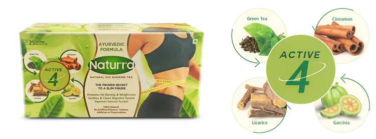 Naturra Launches Natural Fat Burning Tea With Active 4 Ingredients