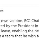 BOI chairman Mangala Yapa steps down