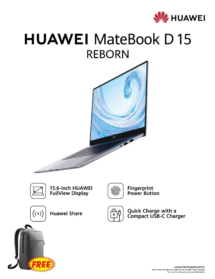 Huawei Enters Laptop Segment Launching Huawei Matebook D 15 In Sri Lanka Adaderana Biz English Sri Lanka Business News