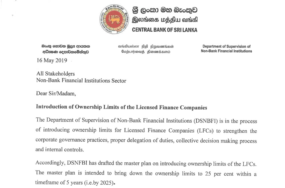 Thread for News on CSE and SL Economy  - Page 12 Consultation_papers_20190516_Introduction_of_Ownership_Limits_of_the_Licensed_Finance_Companies_e-1