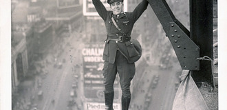 A man hanging around in what appears to be a nypd aerial police uniform c 1930s listing