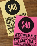 Gift certificate card stock fourwide