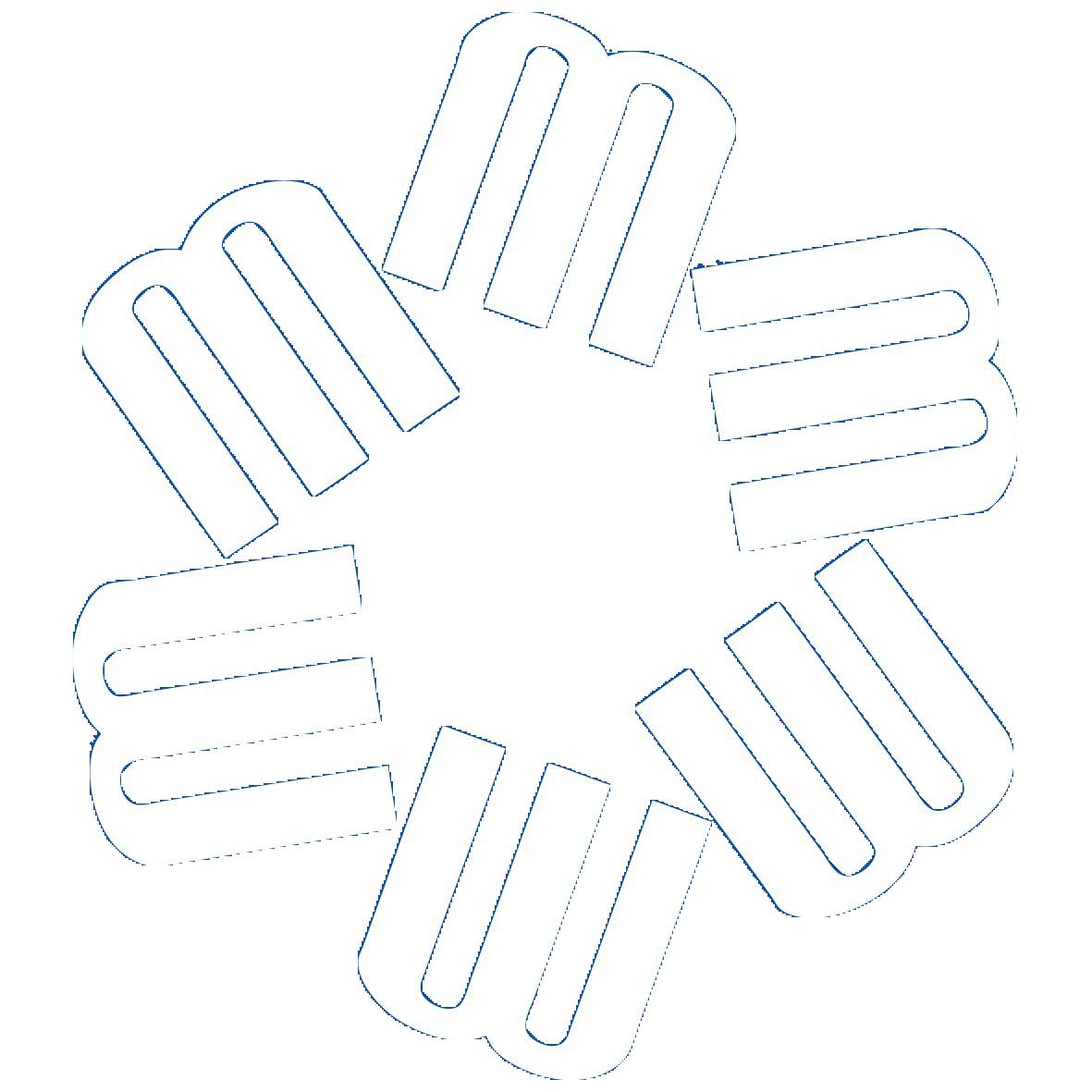 6m logo 2 white